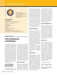Mitteilungen der DGSS Liebe Kolleginnen und Kollegen, - Schmerz