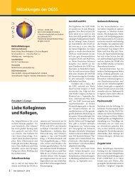 DGSS – Deutsche Schmerz- gesellschaft
