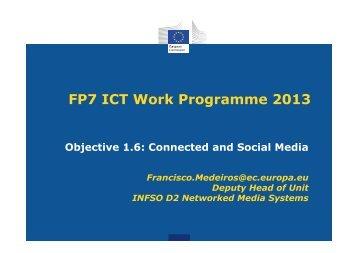 FP7 ICT Work Programme 2013 - RTD