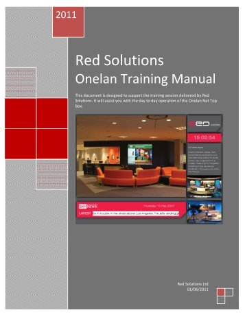 Onelan Training Manual - Red Solutions