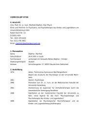 CURRICULUM VITAE 0. Anschrift Univ.-Prof. Dr. sc. hum ... - Akip