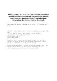 """""""Off-label-use"""" von Botulinum-Toxinen - Deutsche Gesellschaft für ..."""