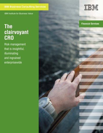 The clairvoyant CRO: Risk management that is insightful ... - IBM