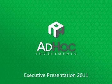 """Our philosophy is based on the """"win - AdHoc Investments"""