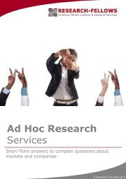 Ad Hoc Researc Services - short term ... - Research-Fellows