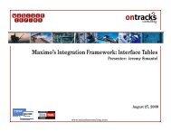 Maximo's Integration Framework: Interface Tables - Ontracks ...