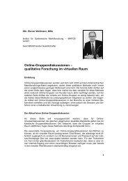 Online-Gruppendiskussionen – qualitative ... - MAFOS GmbH