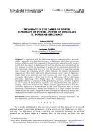 diplomacy in the games of power. diplomacy of power - Revista ...
