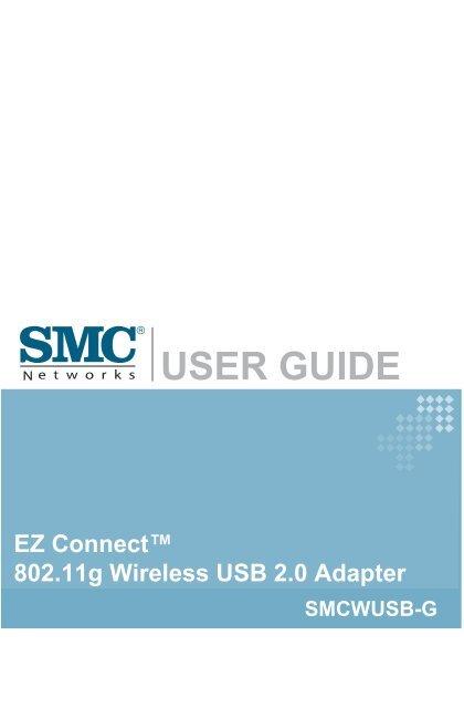 SMC SMCWUSB-G 802.11 b//g USB 2.0 EZ Connect 2.4 GHz Wireless Adapter Lot of 10