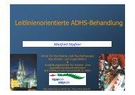 Leitlinienorientierte ADHS-Behandlung - Referat von Prof. Dr ...