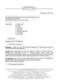 Dienstag, 1. Mai 2012 Protokoll der Mitgliederversammlung des ...