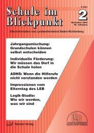 Schule im Blickpunkt - Elterninfo-BW und GEB-Pforzheim