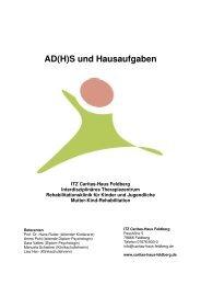 AD(H)S und Hausaufgaben - Caritas-Haus Feldberg