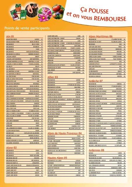 Voir Les Points De Vente Participants Vilmorin