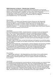 1 ADHS Symptome verstehen – Beziehungen ... - Sinn-Stiftung