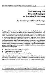 Die Einrichtung von Pflegestudiengängen an deutschen ... - SSOAR