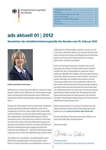 ads aktuell 01/2012 - Antidiskriminierungsstelle