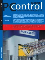 PC Control 1|2004 - PC-Control The New Automation Technology ...