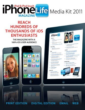100% iOS USER AUDIENCE - iPhone Life