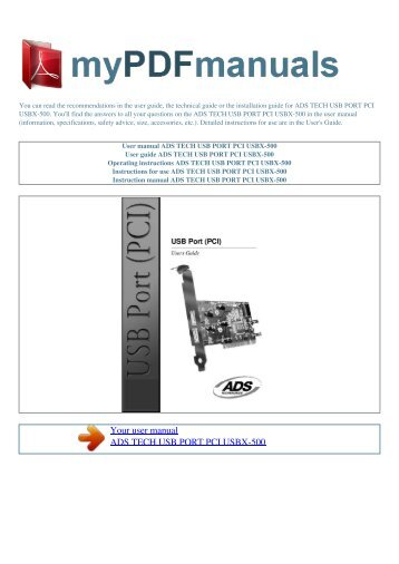 DRIVER FOR ADS TECH INSTANT TV HDTV PCI