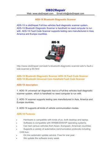 ADS-1X Bluetooth Diagnostic Scanner.pdf - OBD2Repair