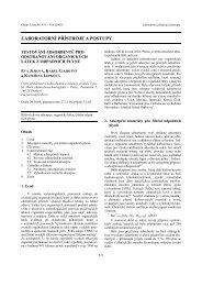 LABORATORNÈ PŘÈSTROJE A POSTUPY - Chemické listy