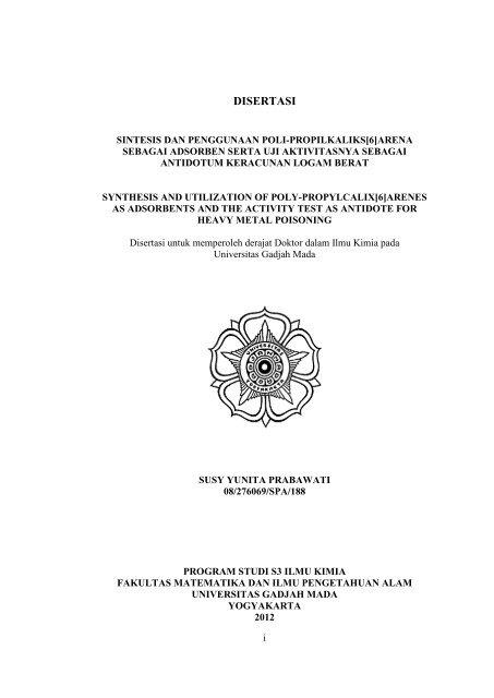 Disertasi Lib Ugm Universitas Gadjah Mada