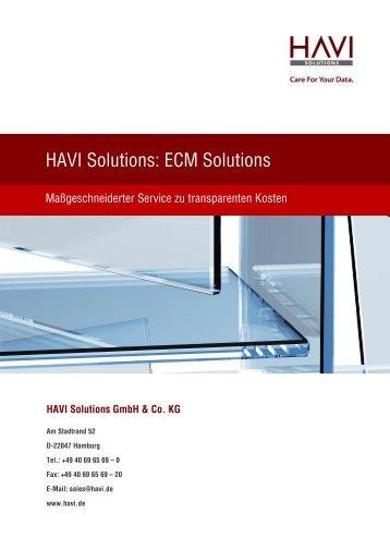 HAVI Solutions: ECM Solutions - HAVI Solutions GmbH & Co. KG