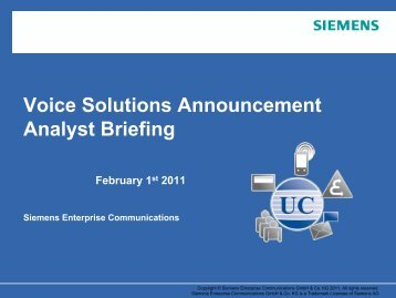 HiPath 4000 Evolution - Siemens Enterprise Communications