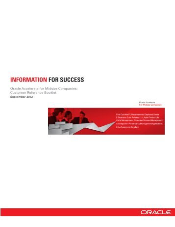 Customer Reference Booklet - Oracle