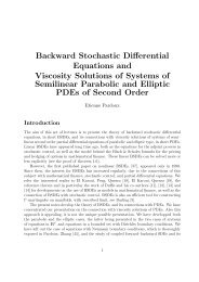 Backward Stochastic Differential Equations and Viscosity Solutions ...