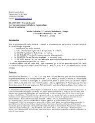 Nicolas Cabasilas - Explication de la Divine Liturgie - ISEO 2006-2007