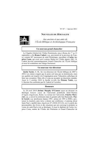 Dernier numéro en français - EBAF