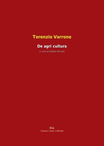 Terenzio Varrone De agri cultura