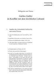 Galileo Galilei im Konflikt mit dem kirchlichen Lehramt