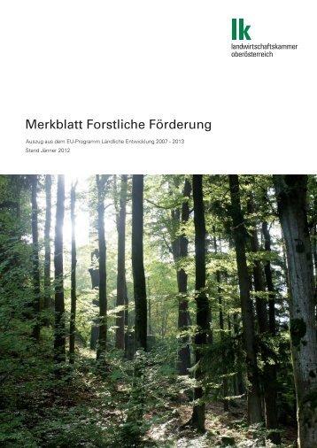 Merkblatt Forstliche Förderung 2012 - Landwirtschaftskammer ...