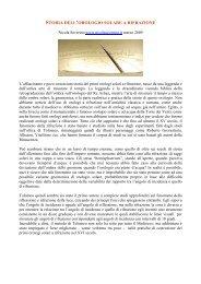 Storia dell'orologio solare a rifrazione - Gnomonica