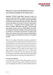 121026 Media Markt Campaign 2012.pdf - Media-Saturn Group