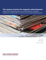 The mystery of prices for magazine advertisements - Simon-Kucher ...