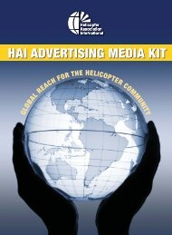 HAI Advertising Media Kit - Helicopter Association International