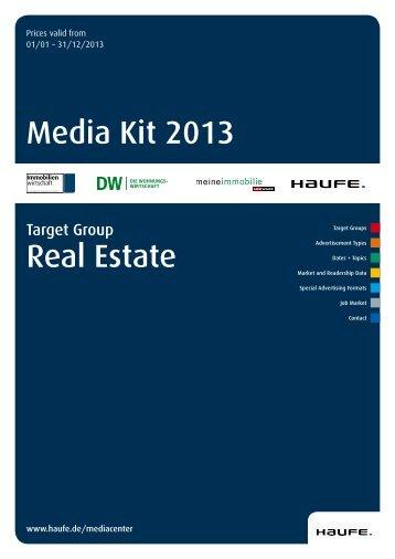 Media Kit 2013 Real Estate - Mediadaten Haufe Lexware