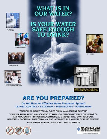 IS YOUR WATER SAFE ENOUGH TO DRINK? - Triangular Wave