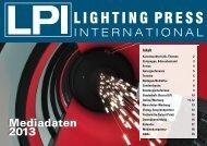 Mediadaten 2013 LPI deutsch - LPI LIGHTING PRESS ...