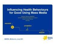 Influencing Health Behaviours for Good Using Mass Media