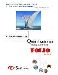 Một số màn hình và báo cáo trong FOLIO FO - Adsoft-corp.com