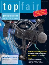 TopFair 2010 prolight+sound - Pro Media News