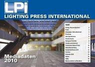 Mediadaten 2010 - LPI LIGHTING PRESS INTERNATIONAL