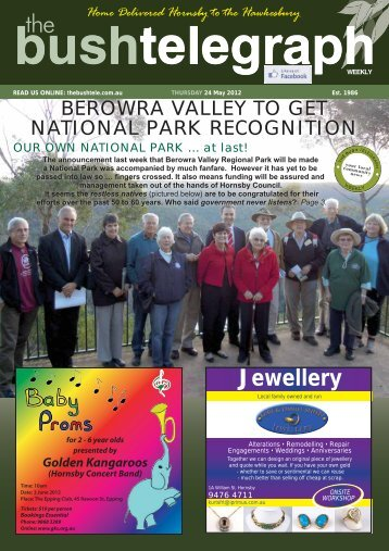 national park recognition - The Bush Telegraph Weekly
