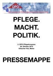 2. DPO-Pflegekongress 28. Oktober 2010 Erbacher Hof, Mainz