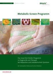 Metabolic-Screen-Programm - biovis´ Diagnostik MVZ GmbH